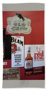 Jim Beam's Old Crow And Red Stag Signs Bath Towel