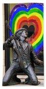 Jimi Hendrix Love On Capitol Hill Bath Towel