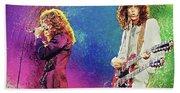 Jimmy Page - Robert Plant Bath Towel