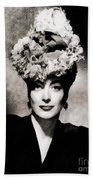 Joan Crawford, Hollywood Legend By John Springfield Bath Towel