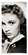 Joan Leslie, Vintage Actress Bath Towel