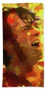 Joe Cocker Colorful Palette Knife Bath Towel