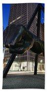 Joe Louis Fist Statue Jefferson And Woodward Ave. Detroit Michigan Bath Towel