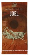 Joel Books Of The Bible Series Old Testament Minimal Poster Art Number 29 Bath Towel