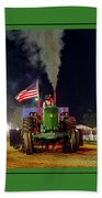 John Deere Tractor Pull Poster Bath Towel