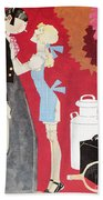 John Held, Jr. Cartoon Bath Towel