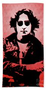 John Lennon - Imagine - Pop Art Bath Towel