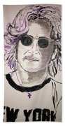 John Lennon Bath Towel