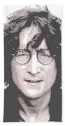 John Lennon - Parallel Hatching Bath Towel