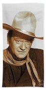 John Wayne, Hollywood Legend Bath Towel