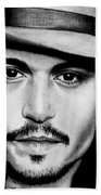 Johnny Depp  Bath Towel