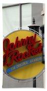 Johnny Rocket Signage Bath Towel