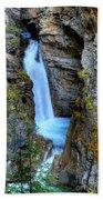 Johnston Canyon Falls Hike Upper Falls Bath Towel