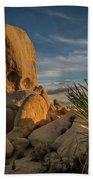 Joshua Tree Rock Formation Bath Towel by Ed Clark