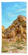 Joshua Tree Rocks Bath Towel