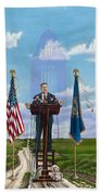 Journey Of A Governor Dave Heineman Hand Towel