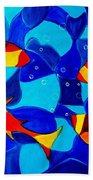 Joy Fish Abstract Bath Towel