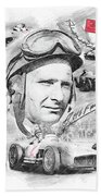 Juan Manuel Fangio Bath Towel