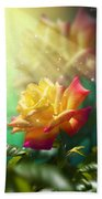 Juicy Rose Hand Towel by Svetlana Sewell