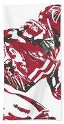 Julio Jones Atlanta Falcons Pixel Art 11 Bath Towel