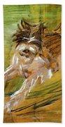 Jumping Dog Schlick 1908 Bath Towel