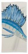 Jumping Swordfish  Bath Towel