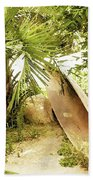 Jungle Canoe Hand Towel