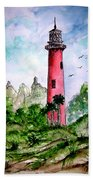 Jupiter Florida Lighthouse Bath Towel