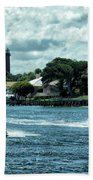 Jupiter Inlet And Lighthouse Bath Towel