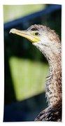 Juvenile Cormorant Profile Bath Towel