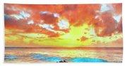 Kailua-kona Sunset Bath Towel
