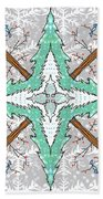 Kaleidoscope Of Winter Trees Bath Towel
