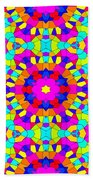 Kaleidoscopic Mosaic Bath Towel