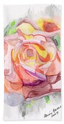 Kaleidoscopic Rose Bath Towel