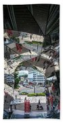Kaleidoscopic Tokyo Bath Towel