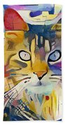 Kandinsky Cat Bath Towel
