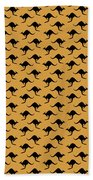Kangaroo Pattern Bath Towel