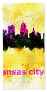 Kansas City Skyline 1 Bath Towel