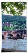 Karl Theodor Bridge And Heidelberg Castle  Bath Towel