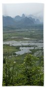 Karst Landscape Of Guangxi Bath Towel