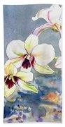 Kauai Orchid Festival Bath Towel