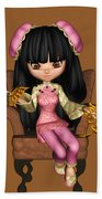 Kawaii China Doll Scene Bath Towel