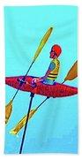 Kayak Guy On A Stick Bath Towel