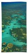 Kayaking Through Beautiful Coral Bath Towel
