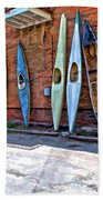 Kayaks On A Wall  Bath Towel