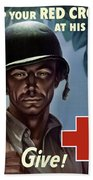 Keep Your Red Cross At His Side Bath Towel