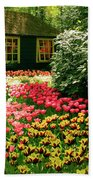 Keukenhof's Tulips Bath Towel
