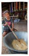 Khmer Girl Makes Sugar Cane Candy Bath Towel