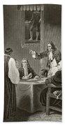King James II Of England Facing Bishops Bath Towel