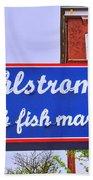 King Of Fish Fish Market  Bath Towel